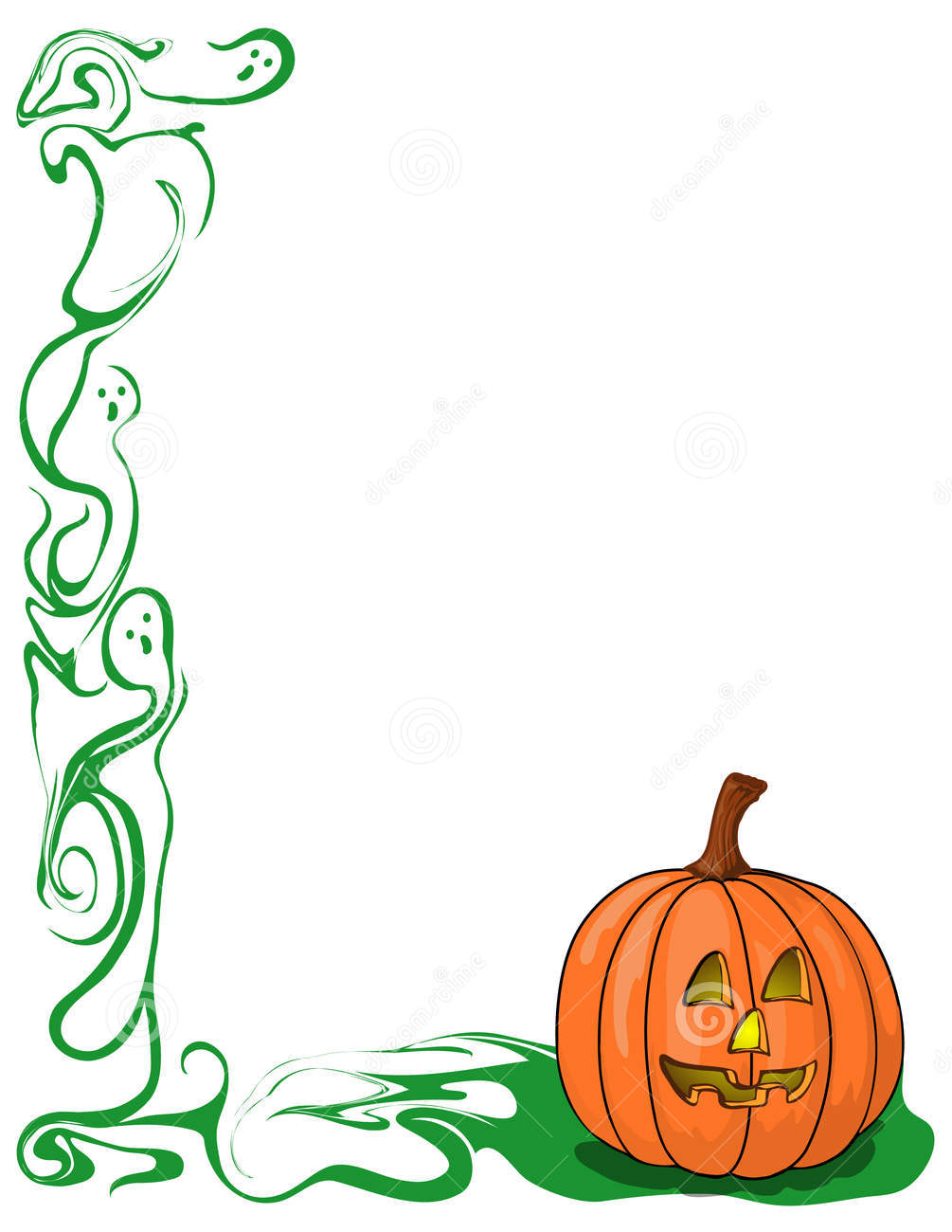 Pumpkin And Ghost Border Royalty Free Stock Images Image 9