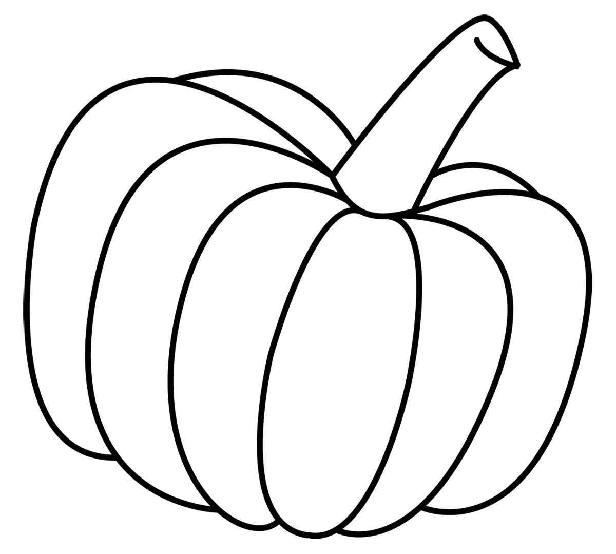 Free Printable Pumpkin Coloring Pages For Kids | Stuff to ... |Pumpkin Clipart Black And White Carson