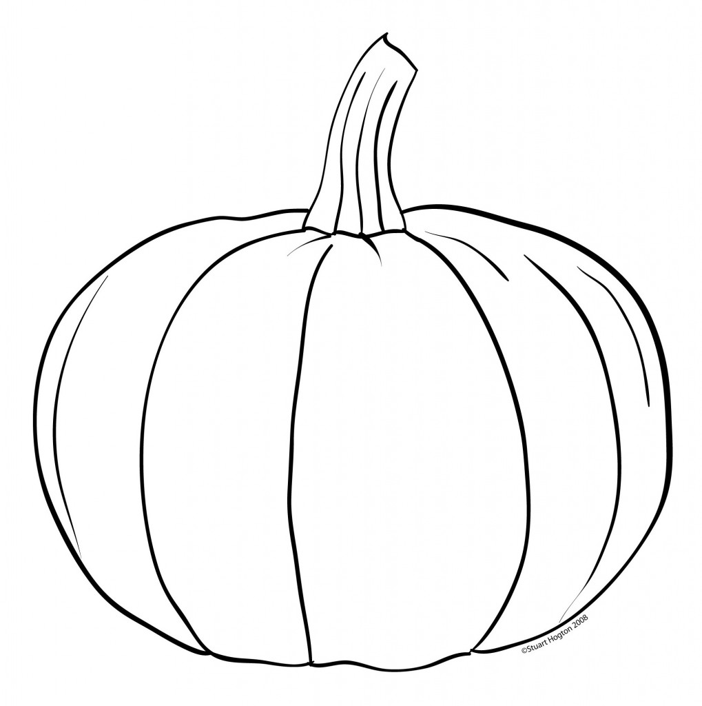 Pumpkin Clipart Black And White Outline Images