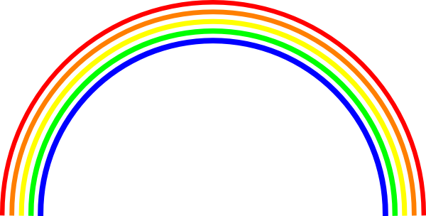 Rainbow Clipart Outline Free Clipart Images