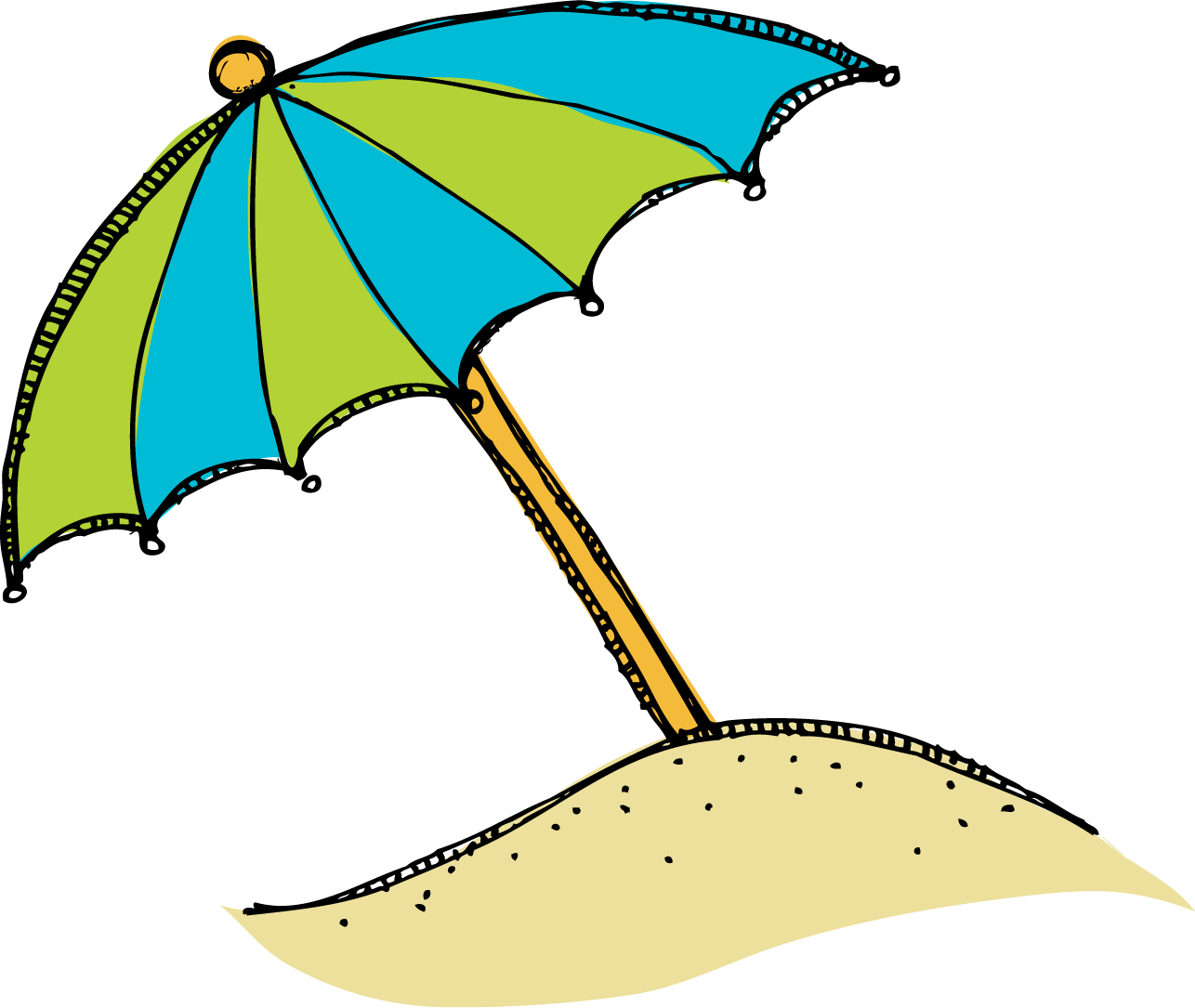 Red Beach Umbrella Clipart Free Clip Art Images