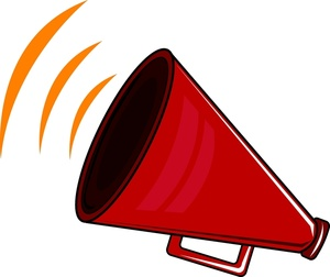 Red Cheer Megaphone Clipart Free Clipart Images