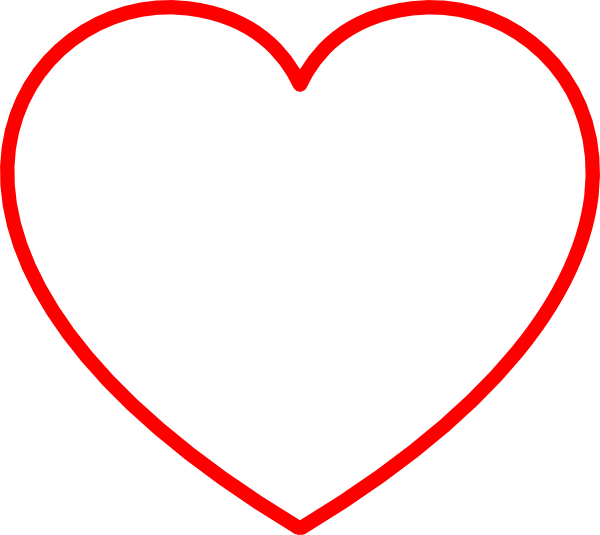 Red Heart Outline Clip Art At Vector Clip Art Online