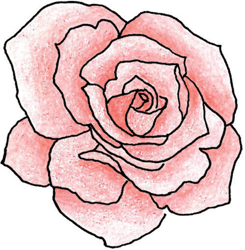 Red Rose Outline Clipart Free Clipart Images