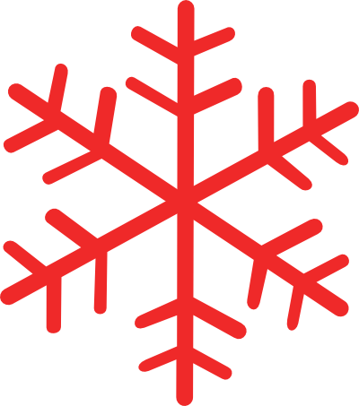 Red Snowflake Border Clipart Images