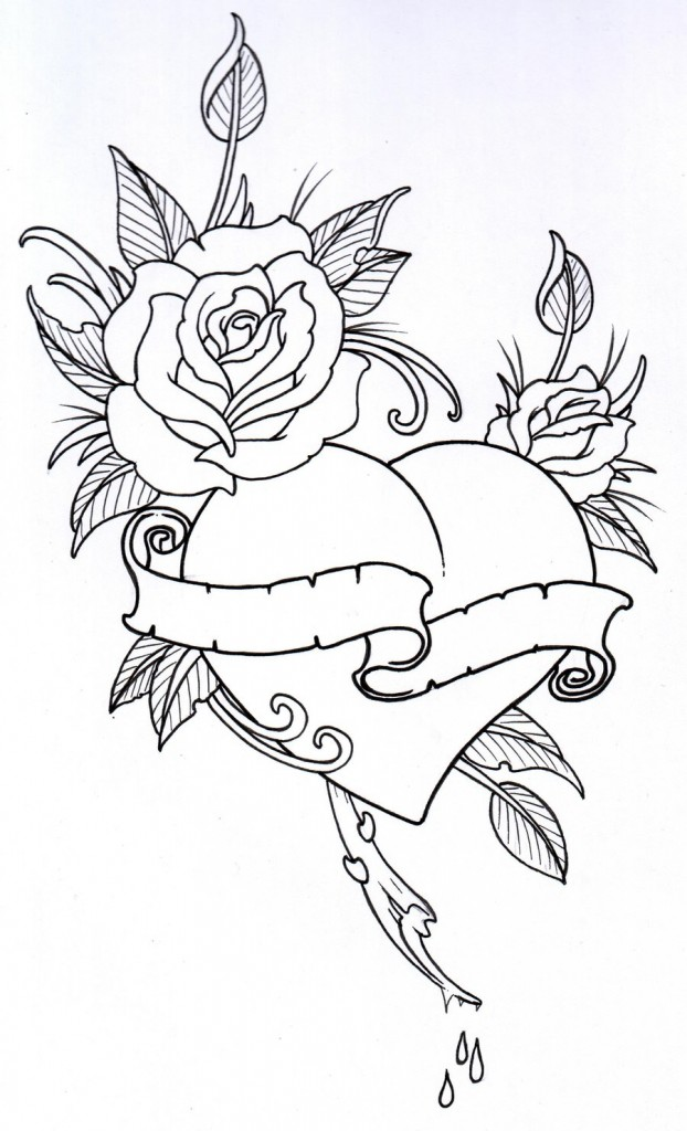 Rose Drawing Outline Floweryweb