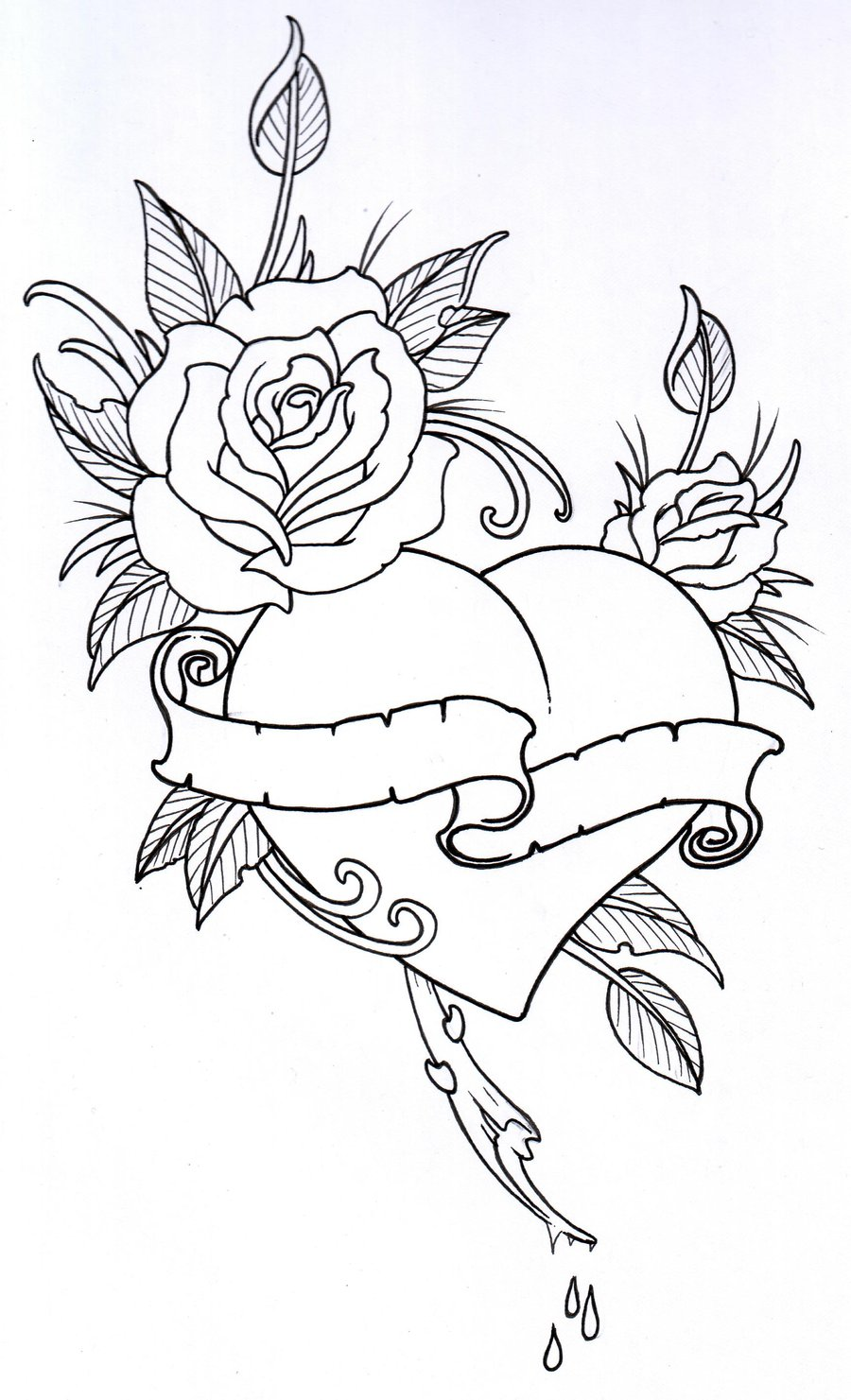 This is an image of Universal Tattoo Coloring Page