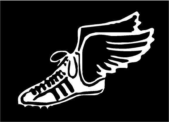 Running Shoe With Wings Symbol Images Amp Pictures Becuo