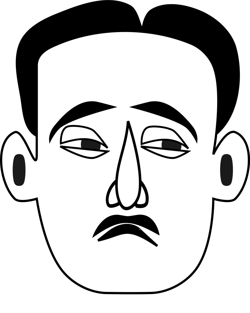 Sad Face Clip Art Black And White