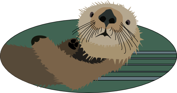Sea Otter Clip Art Free Vector 4vector