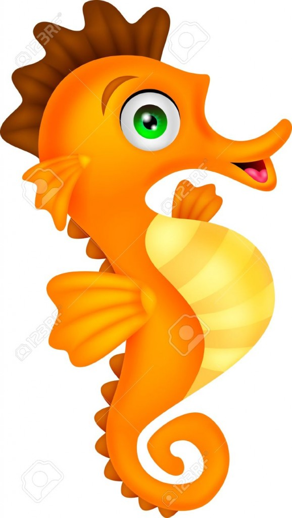 Seahorse Stock Vector Illustration And Royalty Free Seahorse Clipart