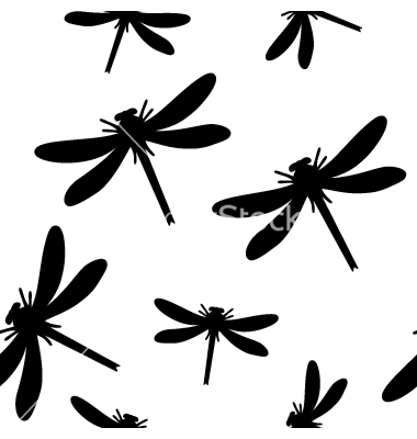 Seamless Dragonfly Background Vectordimanchik Image