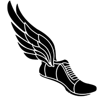 Silhouette Of Track Shoe With Wings