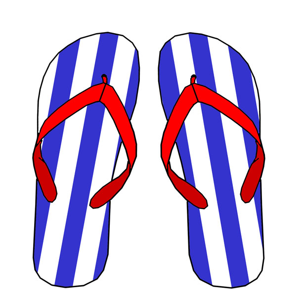 Silly Flip Flop Clipart