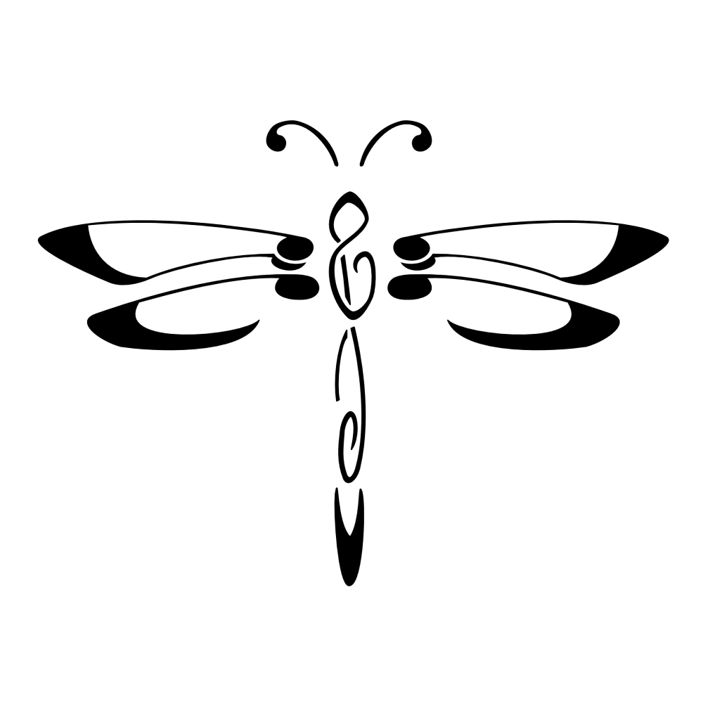 Simple Dragonfly Tattoo Mommys Monster