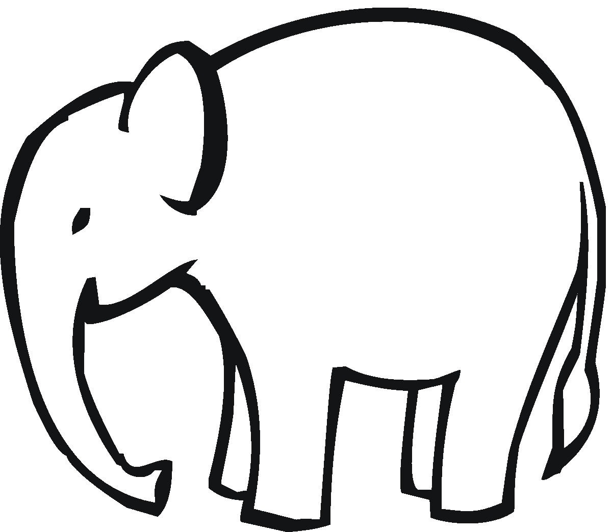 Simple Elephant Outline Applique Clipart Free Clip Art Images
