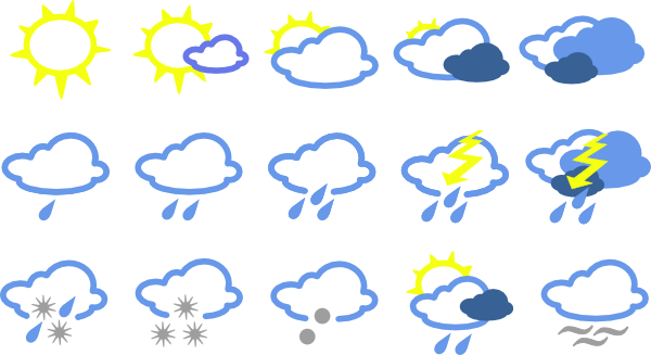 Simple Weather Symbols Clip Art At Vector Clip Art