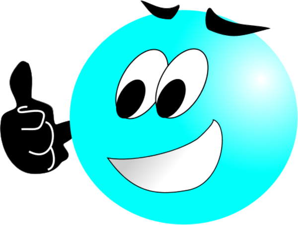 Smiley Face Making Thumbs Up Vector Clip Art