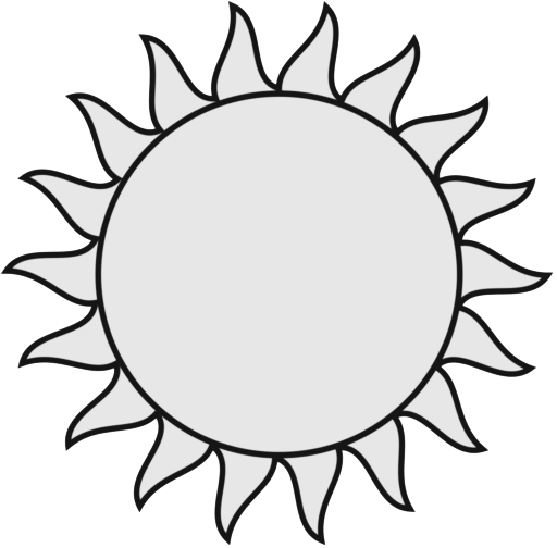Smiling Sun Clipart Black And White Free Clipart