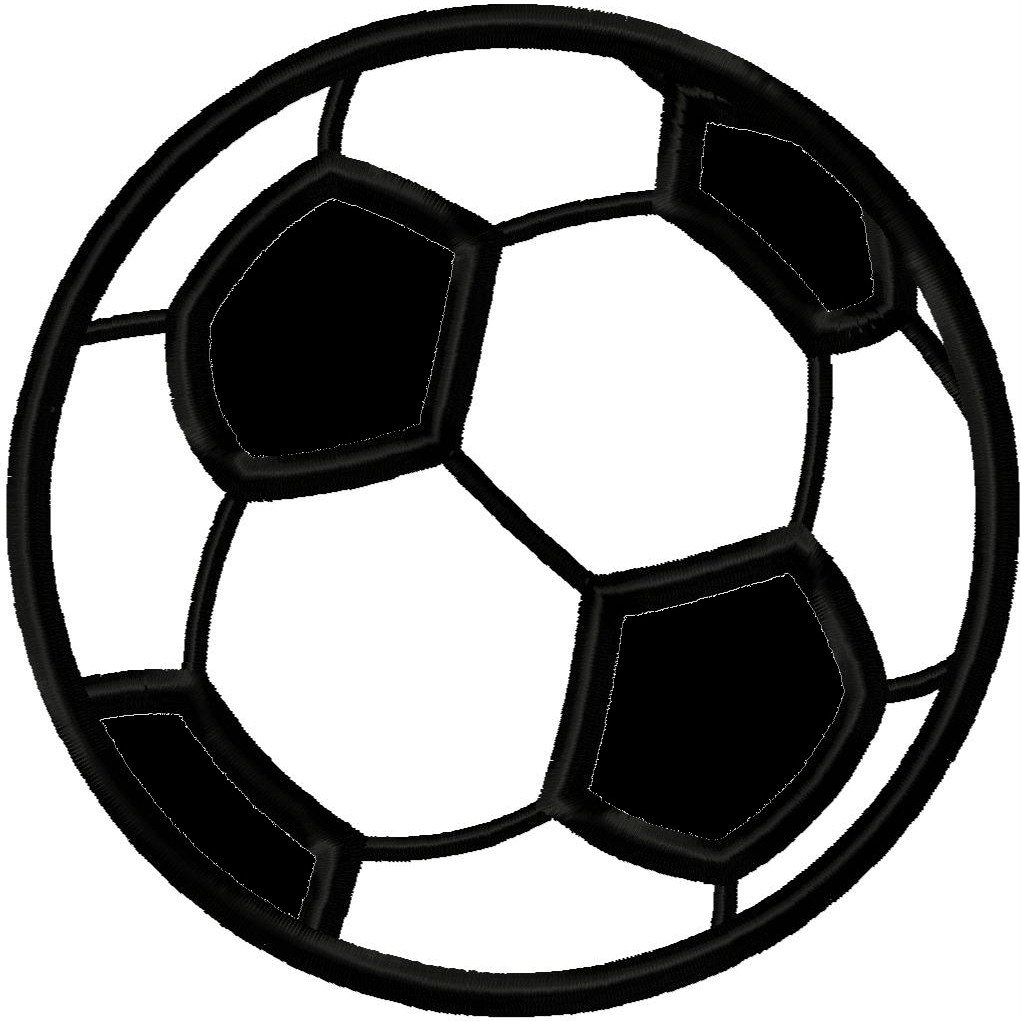 Soccer Ball Applique Embroidery Design Sports