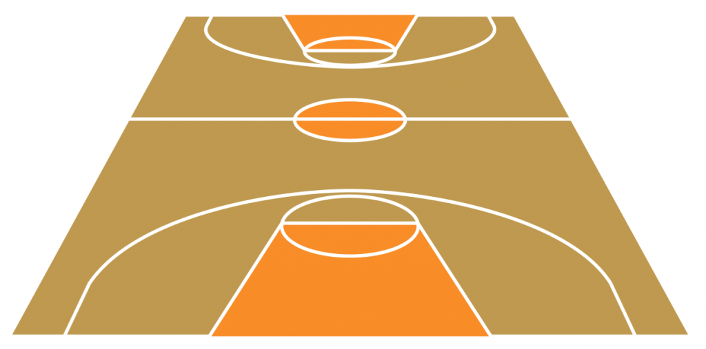 Sport Basketball Court View From Short Side Template Png