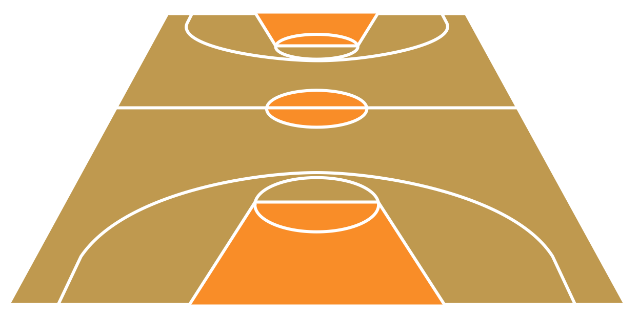 Basketball Court Clipart #5108