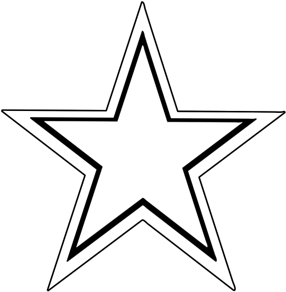 Star Double Outline Signs Symbol Stars