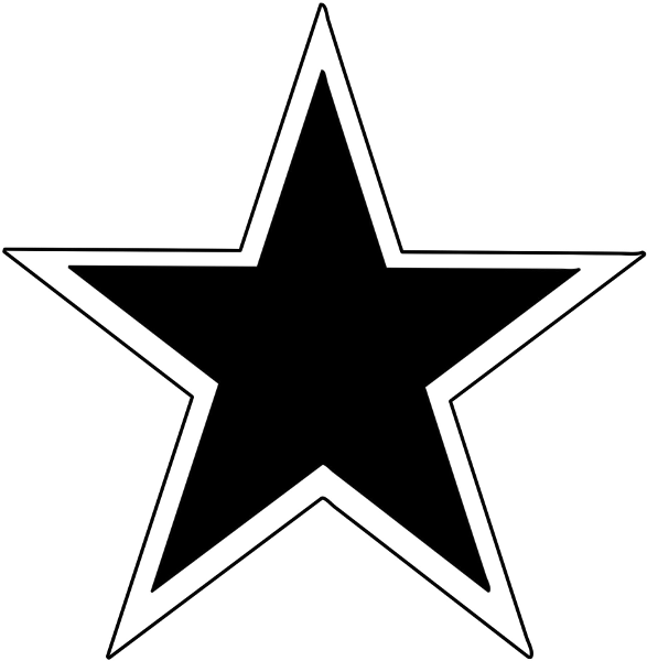 Star Solid W Outline Signs Symbol Stars