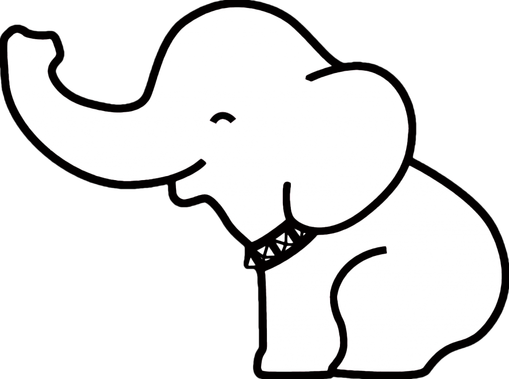 Stencil Elephant Outline Images