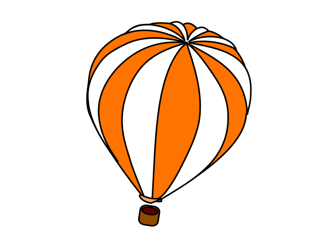 Stitched Hot Air Balloons Set Of Rainbow Clipart Free Clip Art