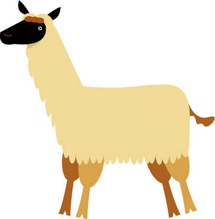 Stock Illustration Drawing Of A Llama
