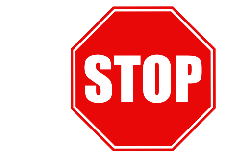 Stop Sign Clipart Black And White Free Clipart
