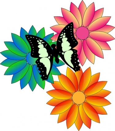 Summer Flowers Clip Art 1