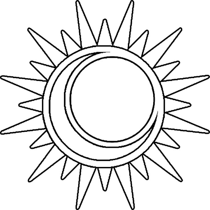 Best Sun Outline 1543 Clipartion