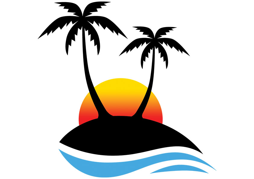 Sun And Palm Tree Clipart Free Clip Art Images