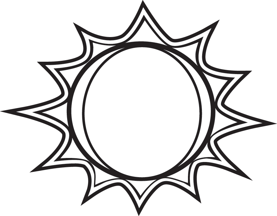 Best Sun Clipart Black And White #1812 - Clipartion.com
