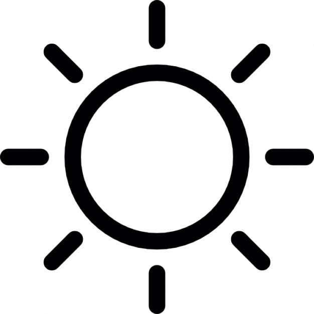 Sun Outline Icons Free Download