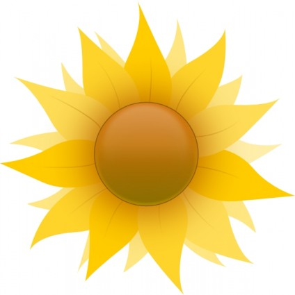 Sunflower Clip Art Free Vector In Open Office Drawing