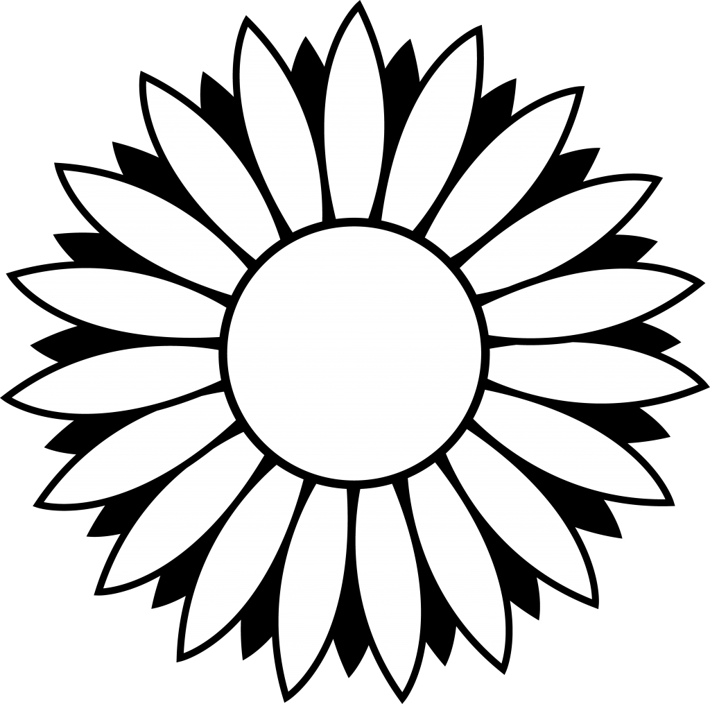 Sunflower Clipart Black And White Border Free