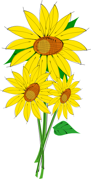 Sunflowers Clip Art Free Vector 4vector