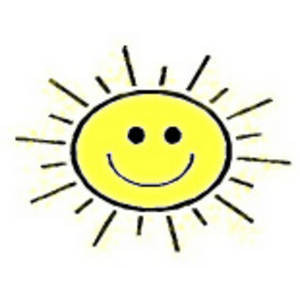 Sunshine Smiley Face Clip Art Out Amp Size L Amp Tid