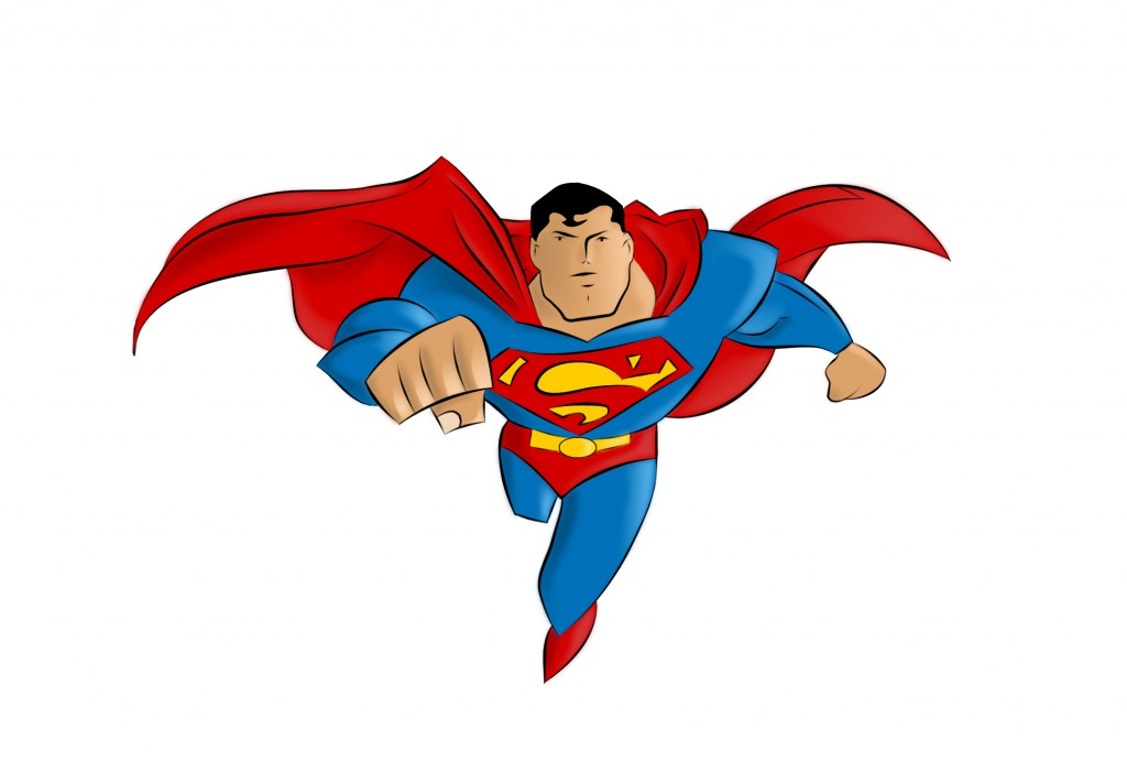 clipart superman flying - photo #16
