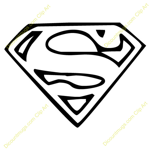Superman clipart for Coloring pages of superman logo