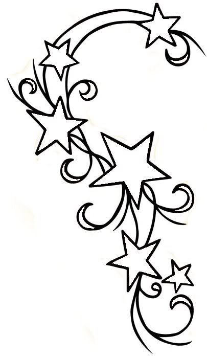 Swirly Star Tattoo Outline Embriodery Ideas