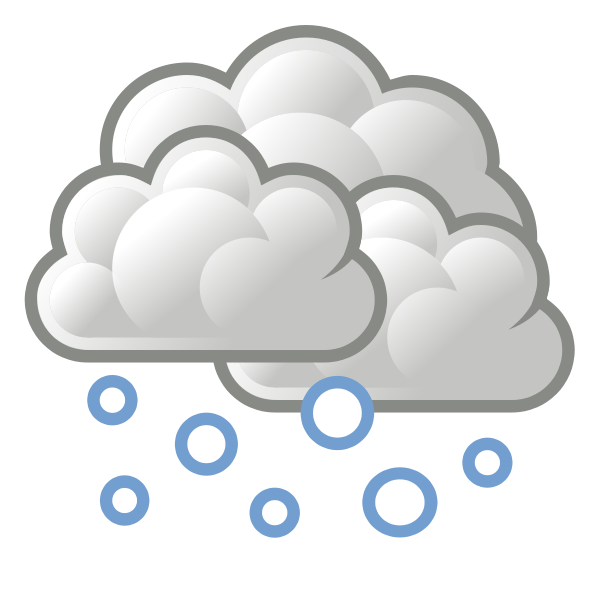 Tango Weather Snow Svg Vector File Vector Clip Art Svg File