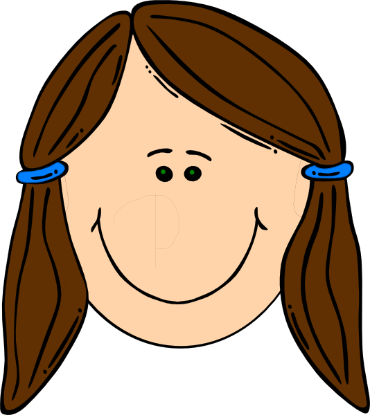 Teen Boy Brown Hair Clipart