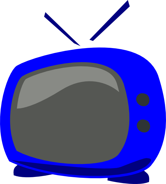 Television Set An Old Fashioned Tv With Antenna Clipart Free