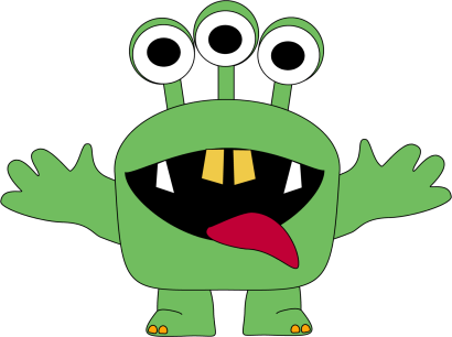 Three Eyed Monster Clip Art Three Eyed Monster Image