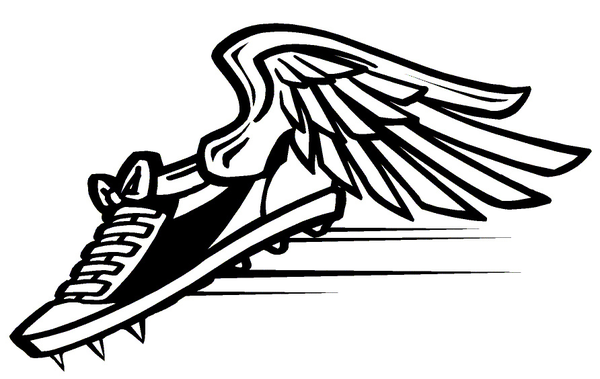 Track Clip Art Track Shoe With Wings Free