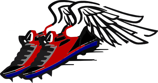 Track Shoes With Wings Clipart Images